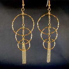 Twisted Circles Earrings tutorial