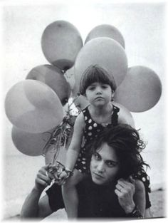 Photo of Bruce Weber photo session showing Johnny with his niece Megan, 1992 for fans of Johnny Depp 11003484 Johnny Depp, Here's Johnny, Bruce Weber, Lily Rose Melody Depp, Vanessa Paradis, My Guy, Photo Sessions, My Idol, Beautiful Men
