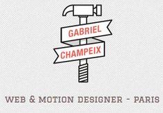 Logo Design: SGabriel Champeix #Logo #Design gefunden auf www.abduzeedo.com gepinned von der Hamburger #Werbeagentur www.BlickeDeeler.de