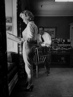Actress Marilyn Monroe Looking over Script for Clifford Odets ...