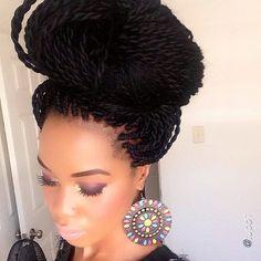 naturalhairdaily: Check out @tupo1's fabulous mega bun! Love it