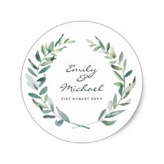 Rustic Olive Leaves Stickers Personalized - rustic gifts ideas customize personalize