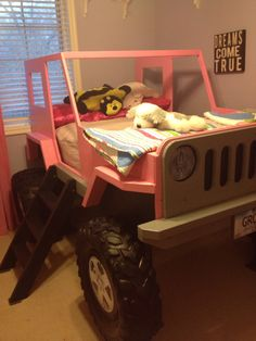 Jeep Bed Plans - Twin Size Car Bed by JeepBed on Etsy https://www.etsy.com/listing/207387741/jeep-bed-plans-twin-size-car-bed