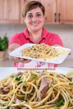 SPAGHETTI AL TONNO E LIMONE. Ricetta Facile e Veloce di Benedetta. Gli spaghetti al tonno e limone sono un gustoso primo piatto perfetto per il caldo periodo estivo.  #ricetta #recipes #ricette #benedetta #fattoincasadabenedetta #cucina #fattoincasa #pasta #spaghetti #tonno #limone Rice Pasta, Pasta Dishes, Tortellini, Pasta Alla Carbonara, Kitchen Queen, No Salt Recipes, Food Staples, Italian Recipes, Food Porn
