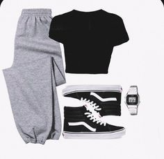Baddie Outfits Casual, Cute Comfy Outfits, Stylish Outfits, Girls Fashion Clothes, Teen Fashion Outfits, Retro Outfits, Tomboy Fashion, Look Fashion, Streetwear Fashion