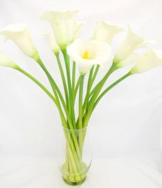 Ideas for using my own vases Silk Calla Lilies in Glass Vase
