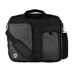VanGoddy Pindar Jet Black Messenger Bag Suitable for Acer TravelMate B  Aspire Switch Series  1012inch >>> Click image to review more details.