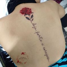 Image may contain: one or more people Flower Spine Tattoos, Back Tattoos, Mini Tattoos, Rose Tattoos, Body Art Tattoos, Small Tattoos, Sleeve Tattoos, Cute Tattoos On Back, Spine Tattoos For Women