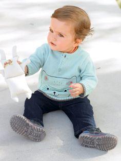 #Pull motif ourson bébé garçon - Collection Printemps été 2014 www.vertbaudet.fr