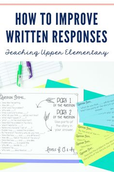 How to Improve Written Comprehension for students struggling to compose text independently. Tips, tricks and resources to easily improve students written responses. In the written response, students need to restate part of the question in their answer, answer all parts of the question, along with supporting details and text evidence as proof of their answer. There are a few little things we can all do as teachers to help improve written comprehension and response!