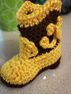 https://hodgepodgecrochet.wordpress.com Cowboy Boots: Free Pattern