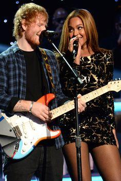 Ed Sheeran and Beyonce....