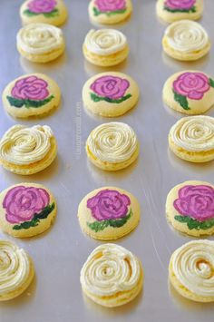 Painted Passion Fruit Macarons