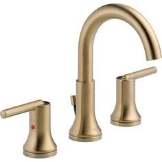 Delta Trinsic Two Handle Widespread Lavatory Faucet with Metal Pop-up | Wayfair