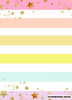 1st Birthday Invitations Girl, Rainbow Birthday Invitations, Girls Party Invitations, Free Printable Birthday Invitations, Wedding Party Invites, Rainbow Birthday Party, Free Invitation Templates, Templates Free, Invitation Ideas