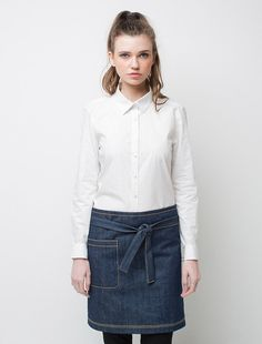 Cargo Crew - Harvest Short Waist Apron - Indigo Denim - Online Uniform Shop Australia