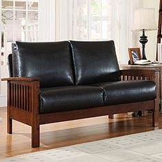Hills Collection Bi-cast Leather Loveseat $430