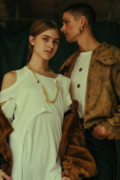 The visionary new designer Vejas creates an ode to sensuality, spirituality and life itself in his own take on the Garden of Eden. Reworked white T-shirts with fur and leather. Vejas SS16 NYFW Presentation