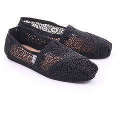 Black Toms Womens Classic Morocco Crochet ($68) found on Polyvore