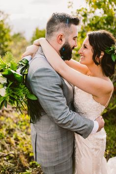 Check out this Hawaii elopement with #MaggieSottero style Nola. #Maggiebride #shimmery #lacegown #elopeinHawaii #Hawaiiwedding