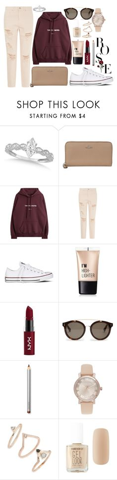 """This Is The Life."" by molylisting ❤ liked on Polyvore featuring Allurez, Coach, Converse, Charlotte Russe, NYX, STELLA McCARTNEY, Laura Mercier, Michael Kors, Topshop and Forever 21"