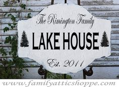 Lake Cottage Decorations | Custom LAKE House Cabin BEACH House signs Cottage by familyattic