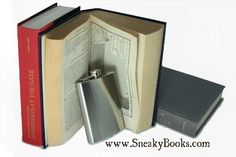 SneakyBooks Recycled Hollow Book Hidden Flask Diversion Safe