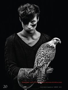 dino busch 0009 Dino Busch Poses with Owls for Harbor Magazine