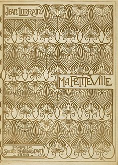 cover design by Léon Rudnicki for an 1898 volume of childhood memoirs by Jean Lorrain (1855–1906)