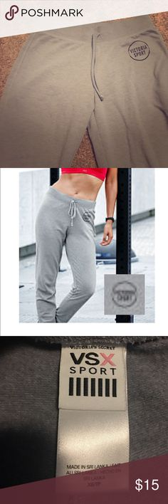 VSX SPORT JOGGERS gray VSX sweats. worn twice. no stains no rips. PINK Victoria's Secret Pants Track Pants & Joggers