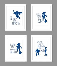 digital download set of 4 toy story woody buzz nursery art print woody toy story - Toy Story Activity Center Download