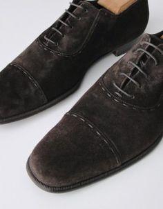 Yves Saint Laurent Suede lace up shoes