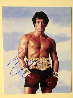 Sylvester Stallone Autographed Signed 11X14 Photo COA 'Rocky'