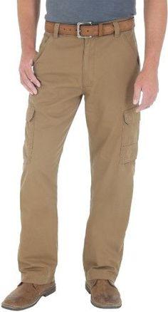 5c9b7354 Genuine Wrangler Mens Ripstop Cargo Pants, Men's, Size: 38W x 30L, Brown