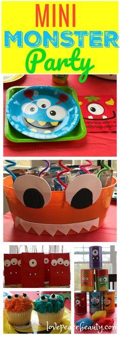Mini Monster Themed Party #orientaltrading #ad #partydecor