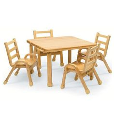 "Found it at Wayfair - Angeles NaturalWood 20"" Square Toddler Table and Chair Sethttp://www.wayfair.com/Angeles-NaturalWood-20-Square-Toddler-Table-and-Chair-Set-AB78002011-DO1280.html?refid=SBP"