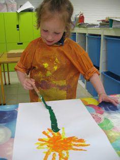 peuter-1ste kleuterklas: Thema 'Een bloem voor mama' Plastic Cutting Board, Activities, School, Earth, Spring, Working Holidays