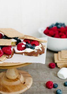Coconut Jam Berry S'mores | www.kitchenconfidante.com