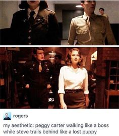 Captain America The First Avenger: Peggy Carter and Steve Rogers