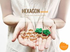 DIY Tutorial: Make a hexagon pendant from ice cream sticks | @Onellyantie Chuah