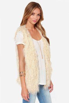 It's a Wild World Cream Faux Fur Vest at Lulus.com!