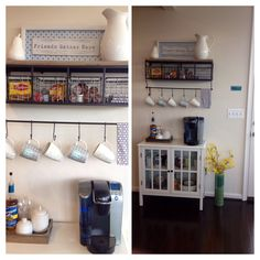 My coffee bar! Thanks for the 'pinspiration' Pinterest!