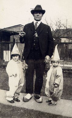 Scary Dad With Clogs And Clowns