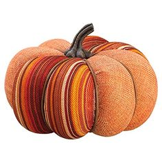 5.25'Hx7'W Artificial Burlap Pumpkin -Orange/Mixed (pack of 6) *** Details can be found by clicking on the image.