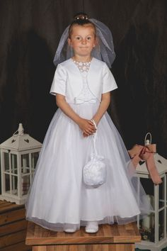 Celebrations Communion Dress - Padma First Communion Dress with Illusion Neckline - NEW 2016 - Girls Communion Dress - First Holy Communion Dress -