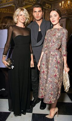 ulyana sergeenko on the right wearing one of her own