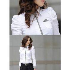 Yucheer Camisa  Manga Larga Moderna para Mujeres - Blanco