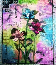 Mixed media art journal by Anita Saeloen via Marjie Kemper's Tuesday's Tutorials Blog Series, Week 14