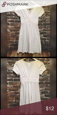 White Burnout Mini Dress Semi sheer adorable white dress. Perfect with leggings. Never worn. Smoke free home. Dresses Mini