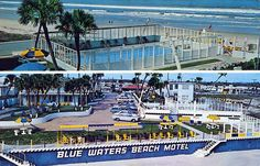 Blue Waters Beach Motel Daytona Beach FL - boy does this bring back memories from the '70s!  WOW!